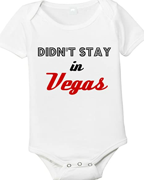 Amazoncom Didnt Stay In Vegas Baby Romper Clothing