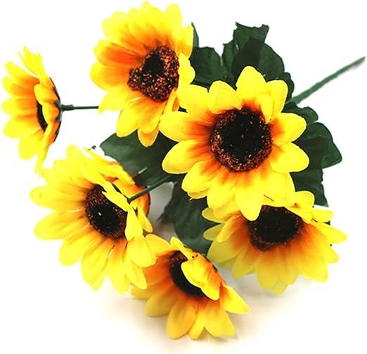 PV Beaux girasoles flores artificiales disfraces para decoración ...