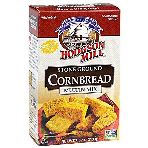 Hodgson Mill Cornbread & Muffin Mix, 7.5-Ounce (Pack of 8) ()