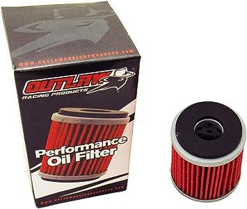 Outlaw Racing Or141 Reusable Oil Filter Yamaha Yfm400 2000-2006 Yfb250 1992-2001