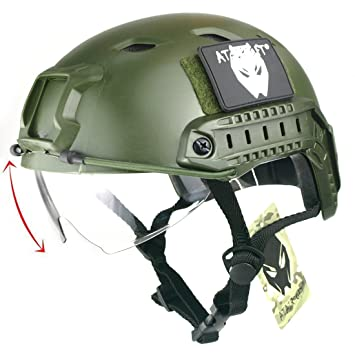 Army Military Tactical Helmet Self Defense Supplies Airsoft Helmet Sports Paintball Gear Jumping Protective Face Mask Self Defense Supplies