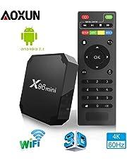 TV Box Android 7.1 - Aoxun X96MINI Smart TV Box Amlogic S905W Quad Core, 2GB RAM & 16GB ROM, 4K*2K UHD H.265, HDMI, USB*2, WiFi Media Player, Android Set-Top Box [Versión Mejorada]