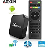TV Box Android 7.1 - Aoxun X96MINI Smart TV Box Amlogic S905W Quad Core, 2GB RAM & 16GB ROM, 4K*2K UHD H.265, HDMI, USB*2, WiFi Media Player, Android Set-Top Box [Versión Mejorada]