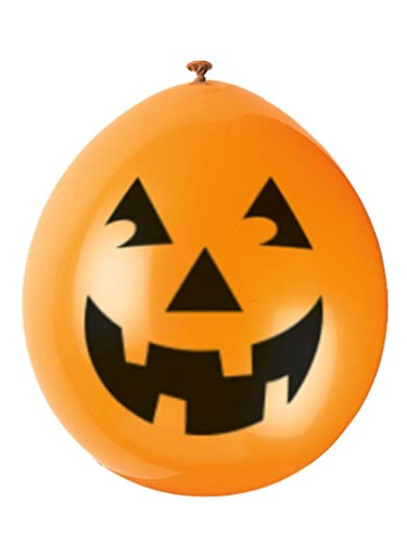 "Unique Party 9"" Latex Pumpkin Halloween Balloons, Pack of 10"