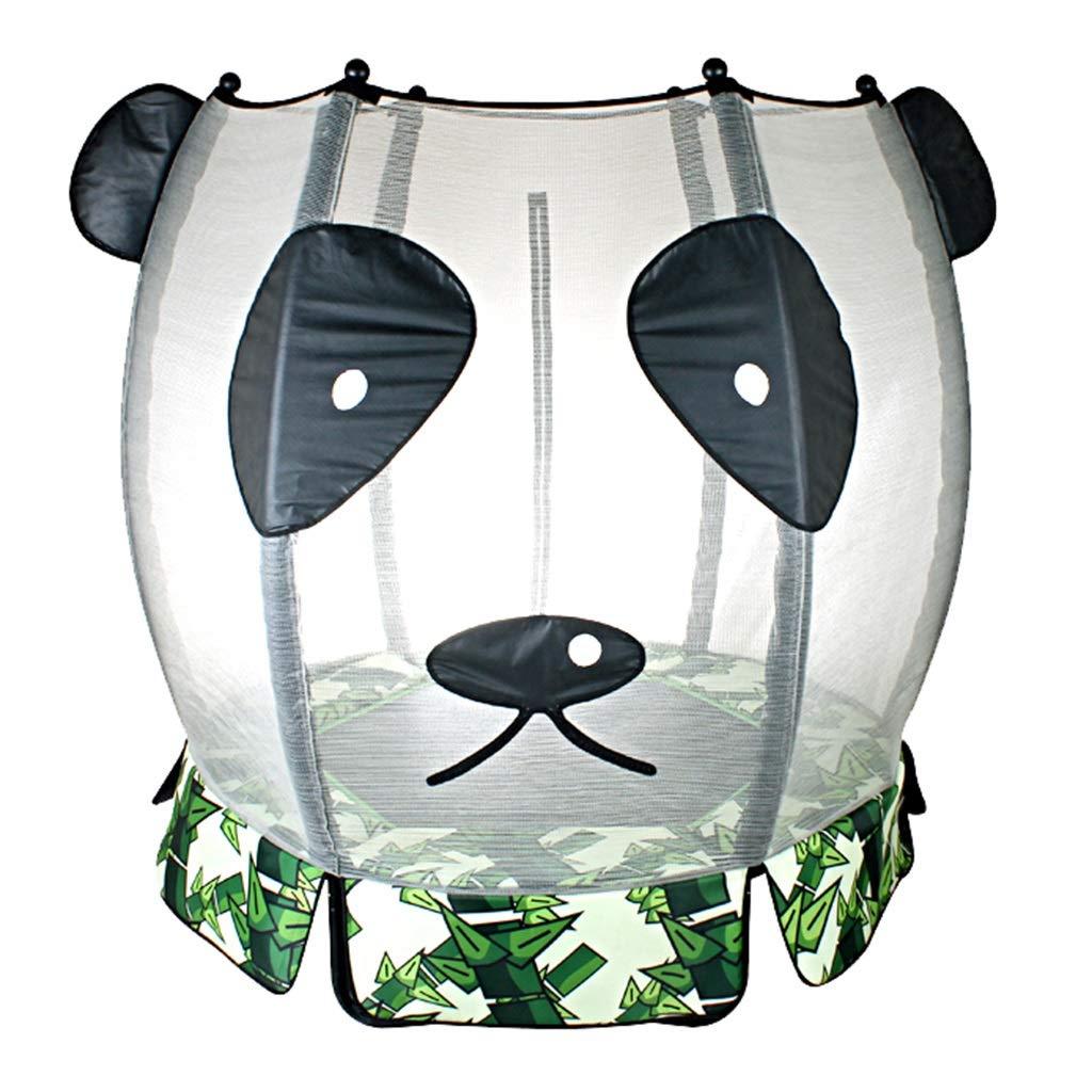 Trampoline Home Indoor mit Schutznetz Fitness Sprungfederbett Kann 150 kg tragen (Farbe : Weiß, Größe : Diameter 140  156cm)