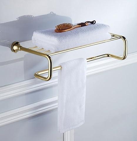 ZXY Porta-Toallas Barras de Toallas, Baño de Hardware Colgante de Cobre Dorado bañera
