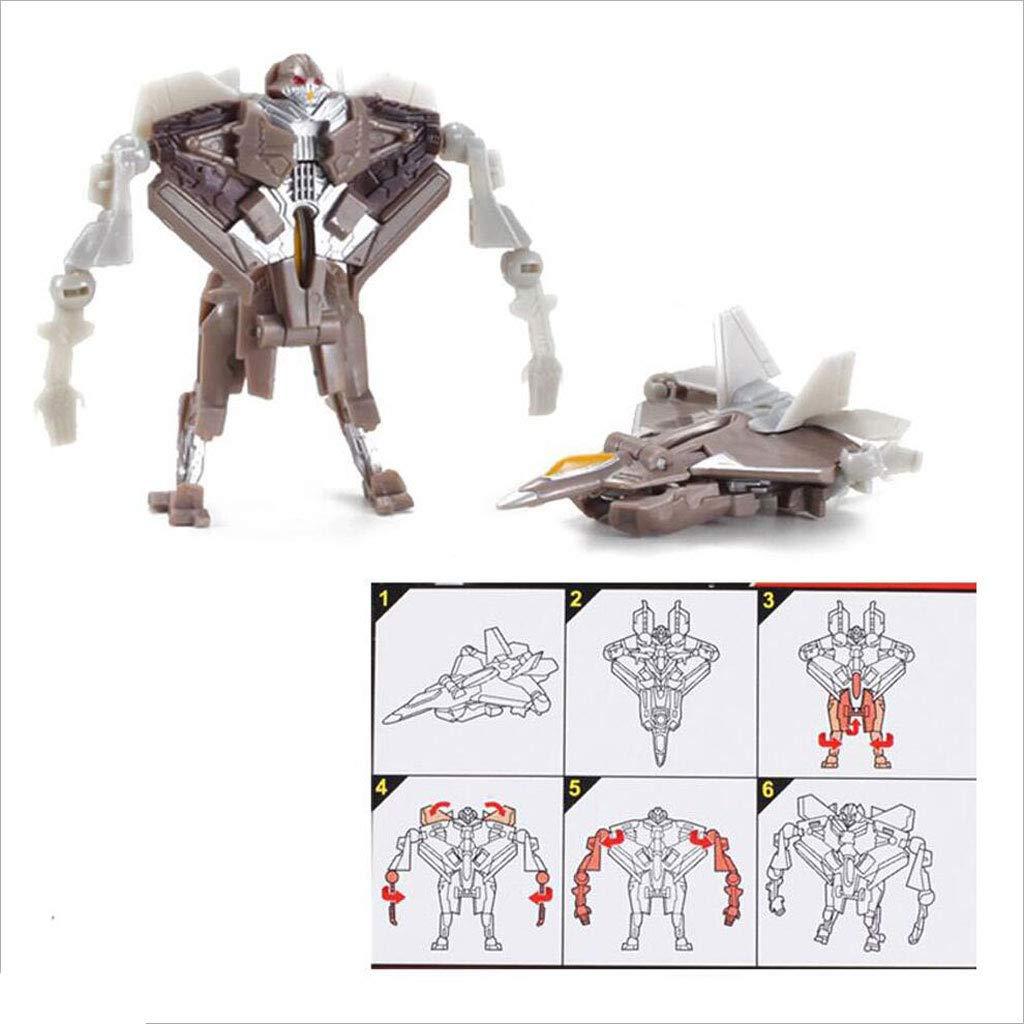 Ensemble Complet de mod/èles de Robot de Voiture Toy Jouet de Bottes de Sauvetage Mini Heroes Siyushop Jeu de 6 Robots et v/éhicules