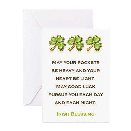 Amazon cafepress irish blessing greeting card note card cafepress irish blessing greeting card note card birthday card blank inside m4hsunfo