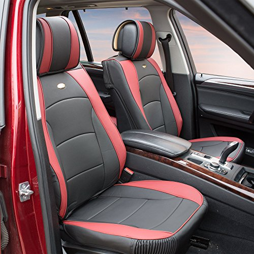 2002 Ford Mustang Air - FH Group PU205BURGUNDY102 Burgundy Ultra Comfort Leatherette Front Seat Cushion (Airbag Compatible)