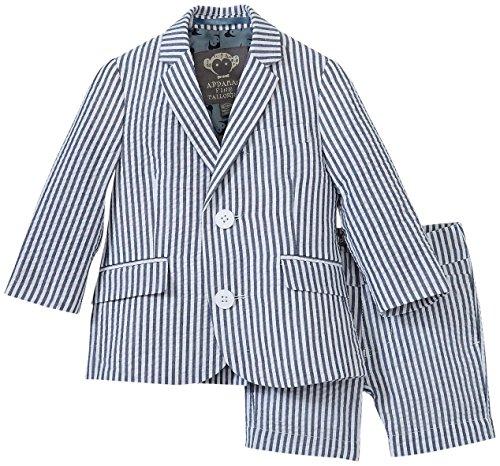 Appaman Shorts Suit Set, Indigo Stripe Seersucker, 18/24 Months by Appaman