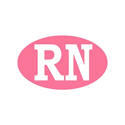 "Rogue River Tactical RN Nurse Pink Sticker Bumper Sticker Oval 5"" x 3"" Car Decal Nursing Gift Registered Nurse (1): Automotive"
