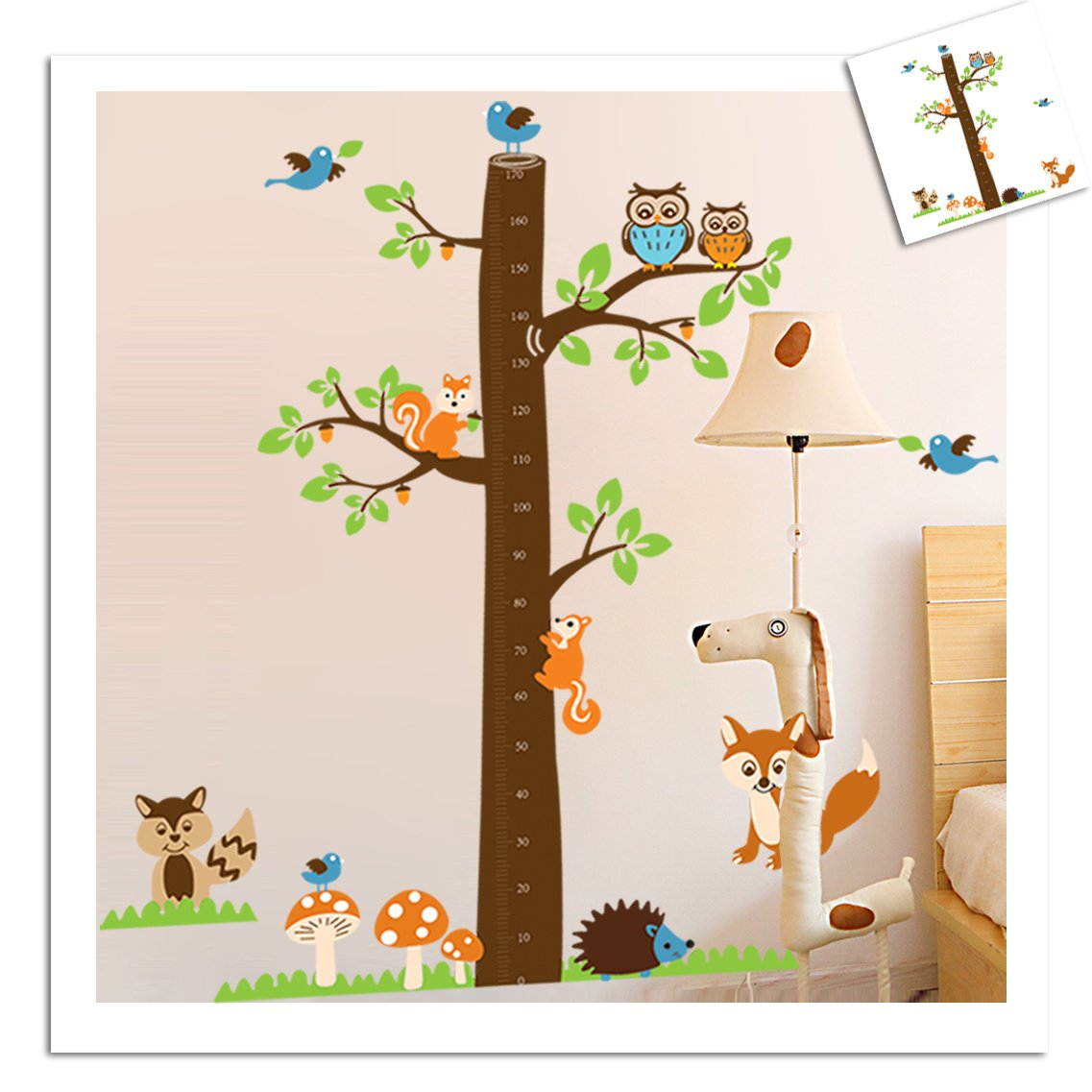 Amazon.de: Wandtattoo Wandsticker XXL Messlatte Deko Tiere Kinder ...