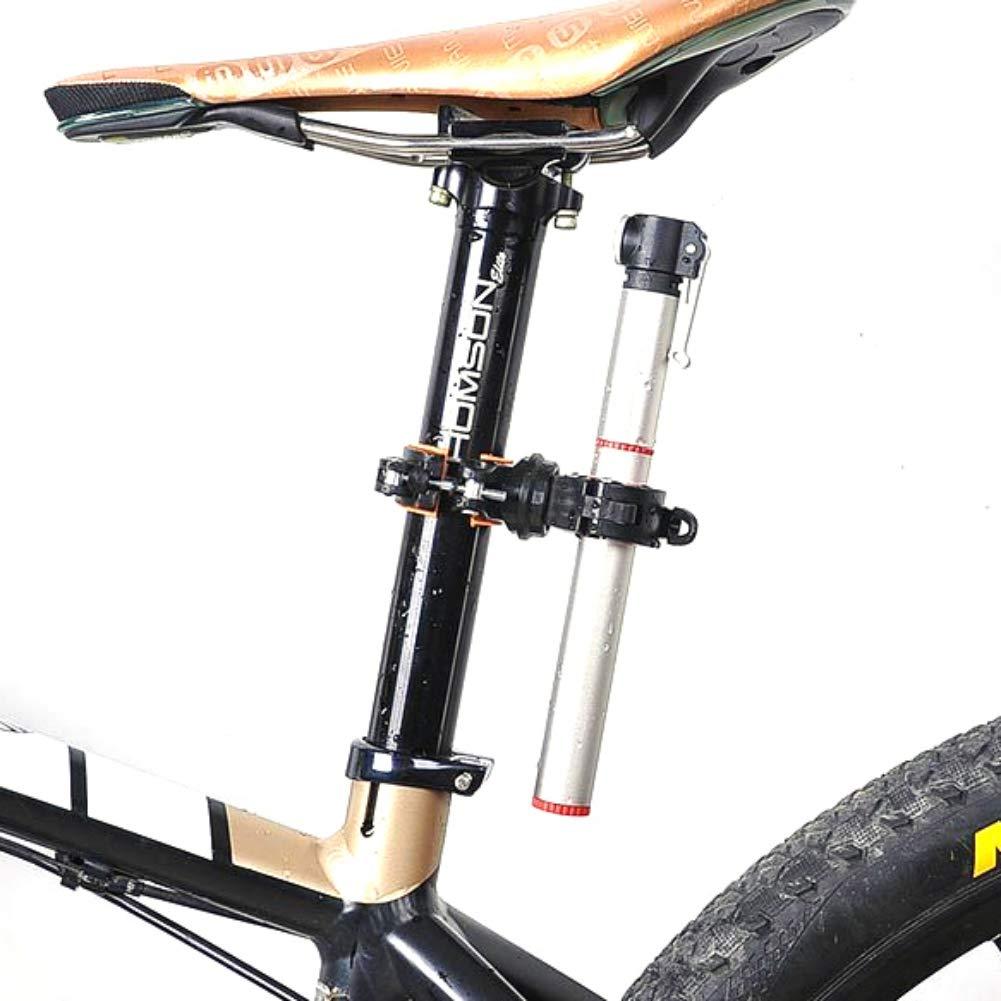 YIDOU Portabiciclette Girevole a 360 Gradi per Bicicletta Lampada a Clip per Faro a LED Supporto da Montagna Bicicletta da Strada Manubrio Torcia Supporto per Pompa Accessori per Biciclette