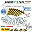 Genuine Cub Cadet Replacement Shear Pins & Cotter Pins for Snowblowers / 10 Pack / 738-04124A, 738-04124