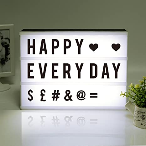 Light Up Cinema Light Box A4 Aize With 96 Letters Led Light Diy