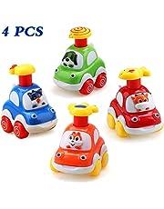 Amy&Benton Coches de Juguete, Surtido 4PCS Figuras Coches Vehículos De Juguete Coches Camiones De Juguete