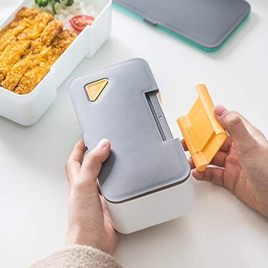 nohbi lonchera Reutilizable, Caja de Almuerzo Cuadrada Simple ...