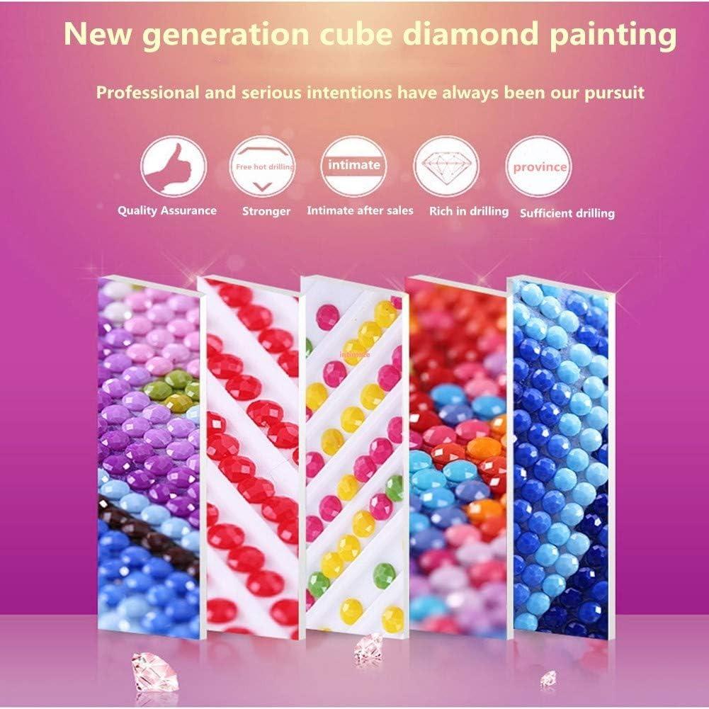 Diy 5D Diamant Peinture Plein Forage Diamond Painting Kit Point De Croix Broderie Harley Moto Salon Chambre D/écoration Autocollant Mural Dessin Art Complet IT2682-25x30cm