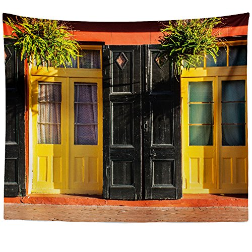 Westlake Art Doors Street - Wall Hanging Tapestry - Picture Photography Artwork Home Decor Living Room - 68x80 Inch (EA40-1E5A6) (Vase Armstrong)