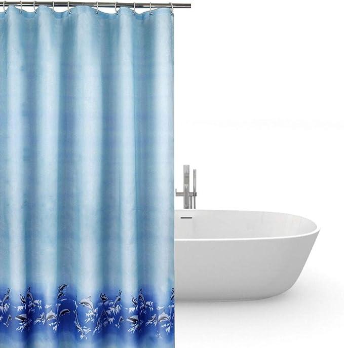 wasserdicht halbtransparent PVC-frei NEU Duschvorhang 240x200cm Anti-Schimmel