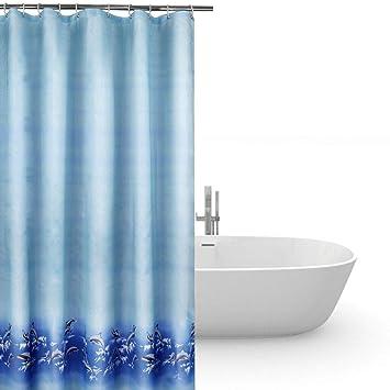 Duschvorhang anti-schimmel 240x200,Bad vorhänge wasserdicht blau ...