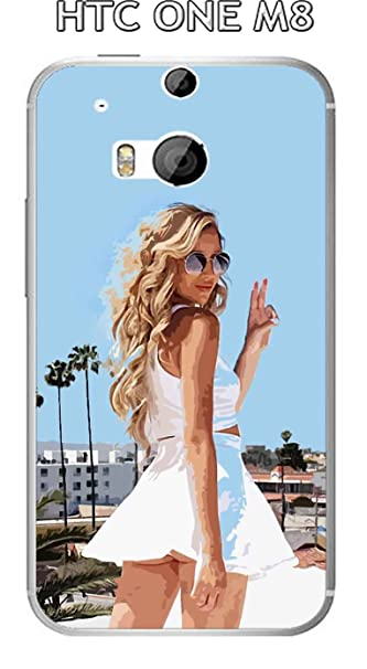 Onozo Carcasa HTC One M8 Design Mujer Sexy Bye Bye: Amazon ...