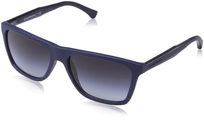 6ca1918005 Armani Jeans- Lunette de soleil EA 4001 Modern Rectangulaire - Homme -  50658G - Blue