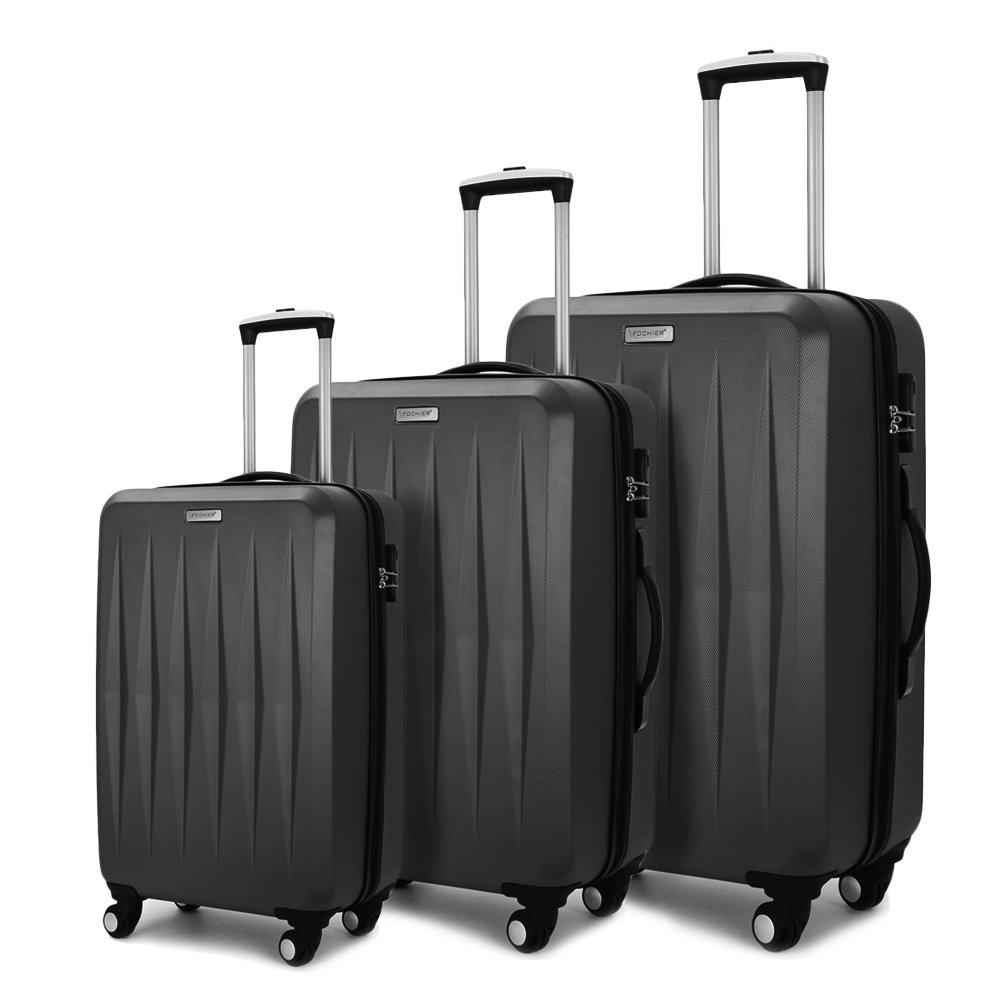 Fochier Luggage 3 Piece Spinner Luggage Set Lightweight Suitcase FC1801-2