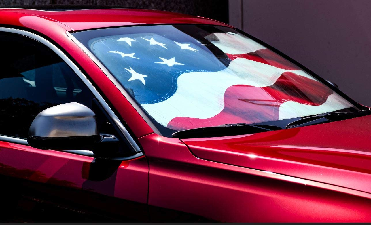 Driver Mods US Flag Custom Car Sun Shade Windshield for Audi 2007-2015 Q7 Fits only SUV