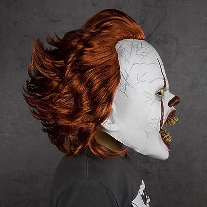 Amazon.com: Disfraz de payaso asesino de Halloween, máscara ...