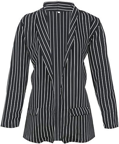 miglior grossista abile design cerca autentico CHICFOR Women Casual Black and White Striped Coats Long Sleeve ...