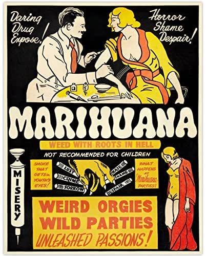 Marihuana - 11x14 Unframed Art Print - Makes a Great Gift Under $15