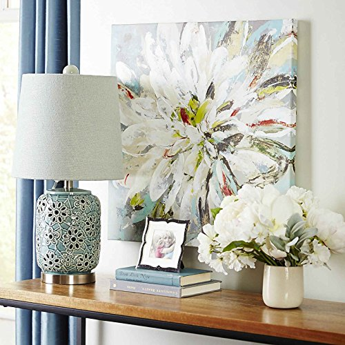 UAC WALL ARTS Natural Flower Canvas Wall Art 100% Hand Painted Contemporary Abstract Flower Oil Painting on Canvas Wall Art Decorative Artwork Framed Ready to Hang for Home Decoration ()