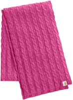 Carhartt WA054 Women's Cable Knit Scarf Tulip Pink Heather One Size