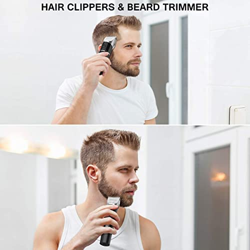 Hair Clippers for Men, ETEREAUTY Professional Cordless Hair & Beard Trimmer