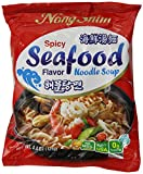 NongShim Noodle Soup, Spicy Seafood, 4.4 Ounce (Pack of 16)