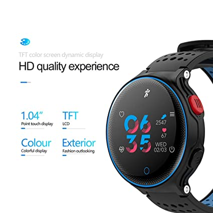 Amazon.com: X2 Sports Smart Watch Color Sceen Heart Rate ...