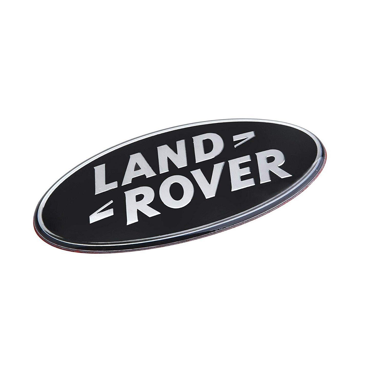 Sport Models Gr/ö/ße 86mm x 43mm SVR Freelander HSE Oval Round Schwarz Front Grill R/ückseite Boot Lid Abzeichen Emblem f/ür Evoque Discovery