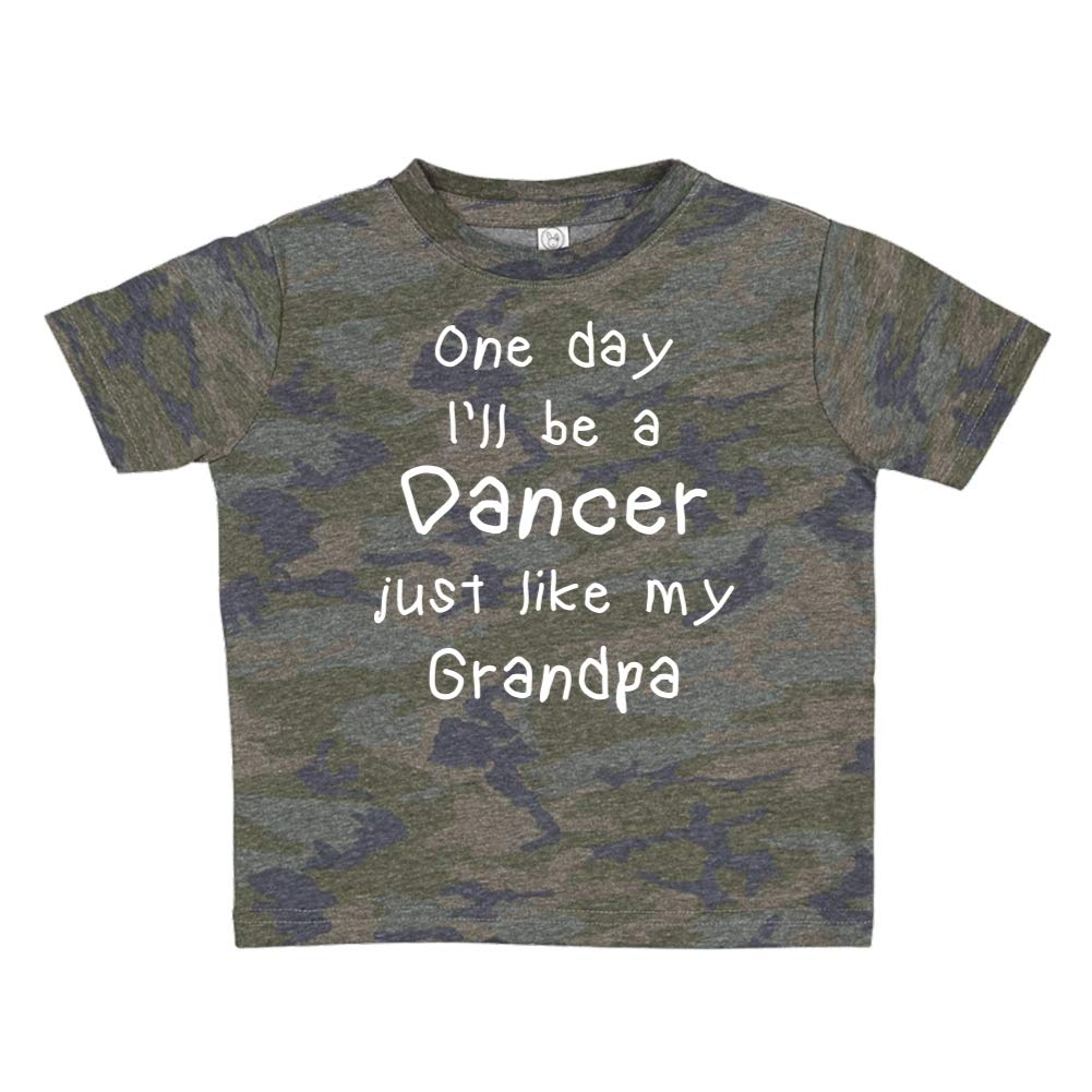 Toddler//Kids Short Sleeve T-Shirt One Day Ill Be A Dancer Just Like My Grandpa