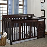 Pemberly Row 4-in-1 Crib and Changer Combo in Espresso