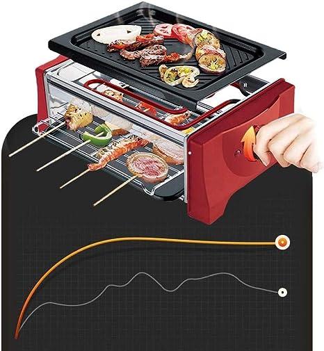 LUCKING Barbecue Portatile Elettrico Teppanyaki da Interno per Picnic in casa