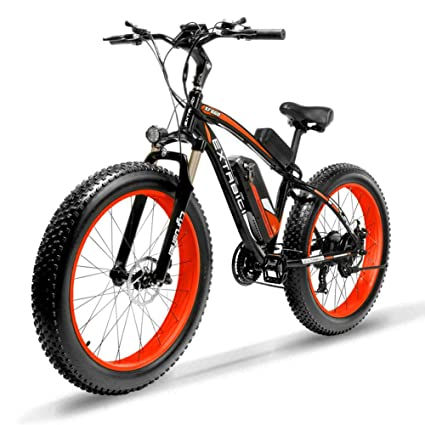 251f0da9622 Extrbici XF660-1000W Hybrid Electric Fat Bike Mountain Bicycle eBike for  Adults and Mens 48V 16AH Panasonic Lithium Battery Aluminum Alloy 6061 Frame  ...