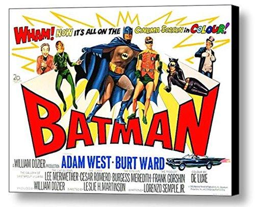 1966 Framed Batman 9x12 Vintage Movie Poster Comic Restored Extra-color Adam West -
