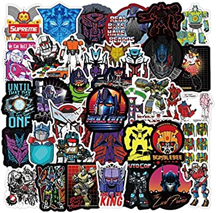 DUOYOU Transformers Pegatinas Robot Pegatinas Maleta Maleta Guitarra Coche Eléctrico Impermeable Pvc Graffiti Pegatinas 50pcs