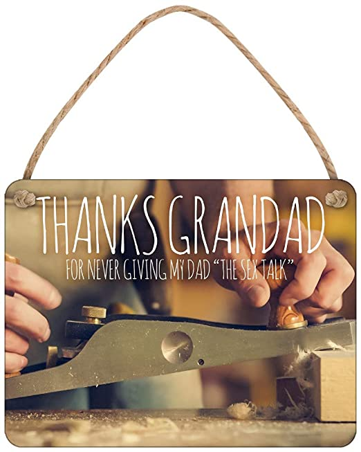 Cartel de Chapa de Thanks Grandad for Not Giving Dad The ...