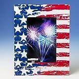 24 Patriotic Stars And Stripes 4X6 Glass Frames