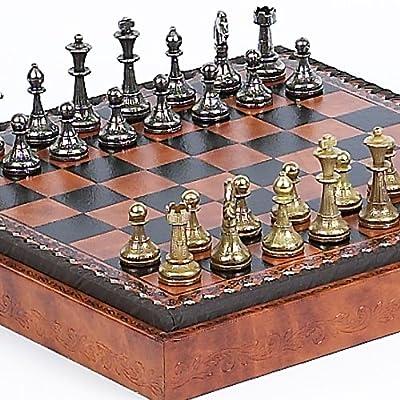 Bello Games Collezioni - Stefano Jr., Chessmen and Marcello Cabinet/Board From Italy
