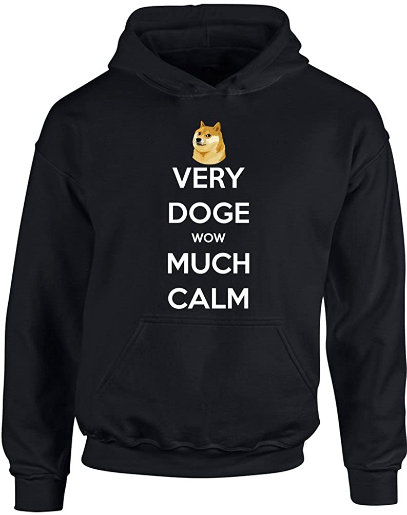 Kids Printed Hoodie Brand88 Very Doge Wow Much Calm
