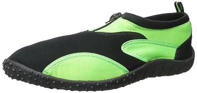 95e24e58cab7 Rockin Footwear Men s Aqua Fire Green Rubber Water Shoe Size 9