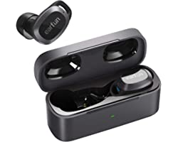 Wireless Earbuds Active Noise Cancelling, EarFun Free Pro 4 Mics Bluetooth 5.2 Earbuds with ANC Transparent Mode, 32H Play Ti